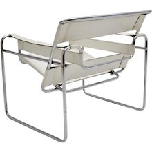 White Wassili Chair by Marcel Breuer
