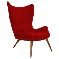 Red Lounge Chair 1950s