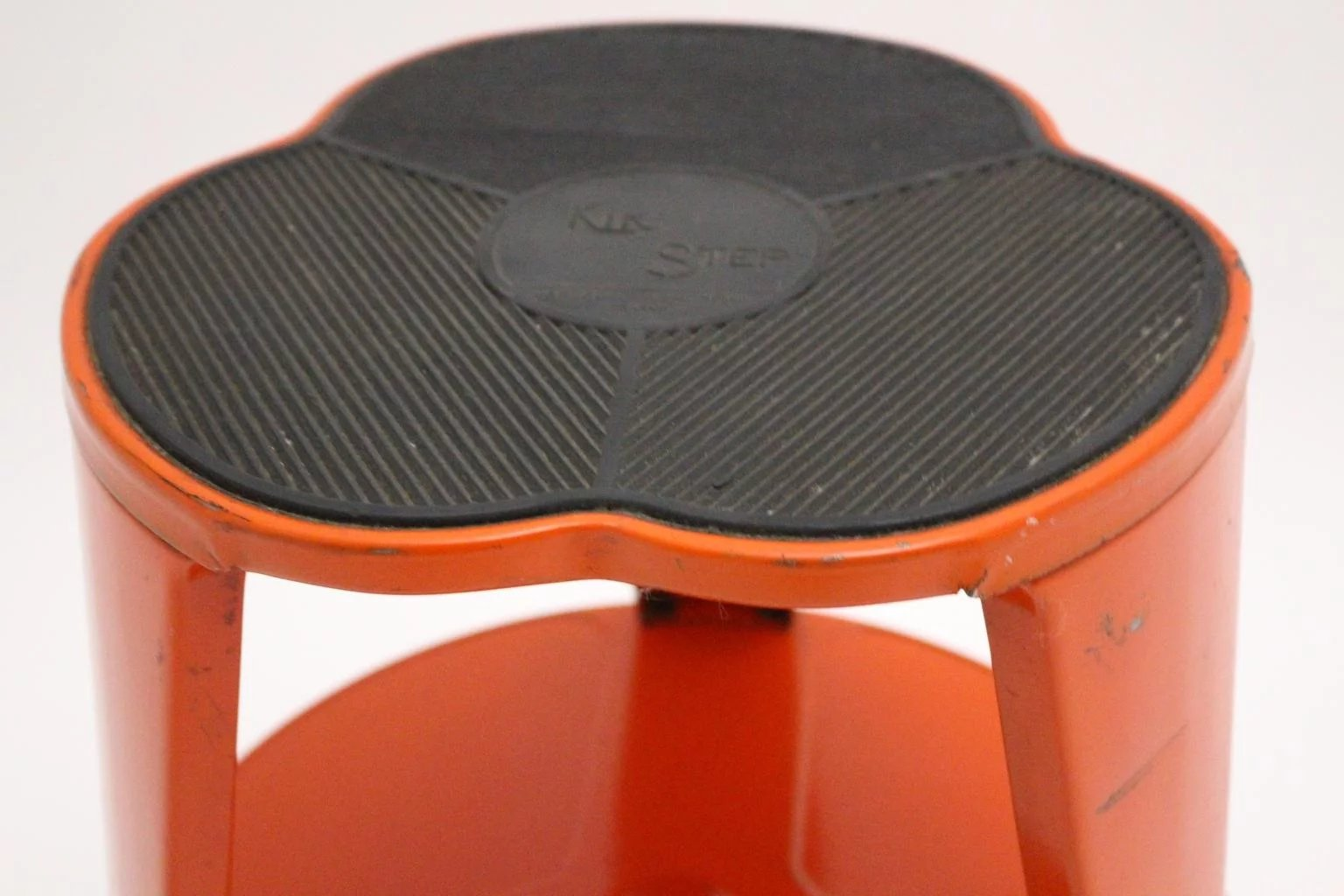 Orange Kik Step Stool By Marc Adet Blanc Mesnil France