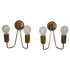 Brass Sconces 1950s Austria