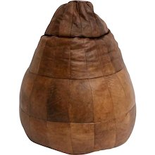 De Sede Cognac Leather Patchwork Bean Bag Chair Switzerland circa 1970