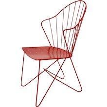 Red Viennese Astoria Side Chair by V. Mödlhammer for Sonett circa 1955