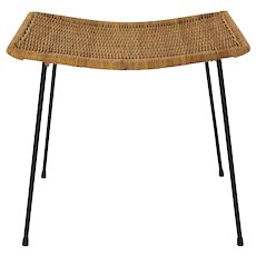Wicker Stool Vienna 1950