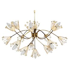 Brass Chandelier with sixteen arms by Emil Stejnar 1955 Vienna
