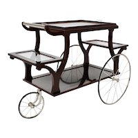 Bar Cart in the style of Adolf Loos circa 1902 Vienna