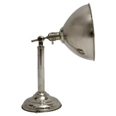 Chromed Art Deco Bauhaus Table Lamp or Sconce circa 1930s Germany
