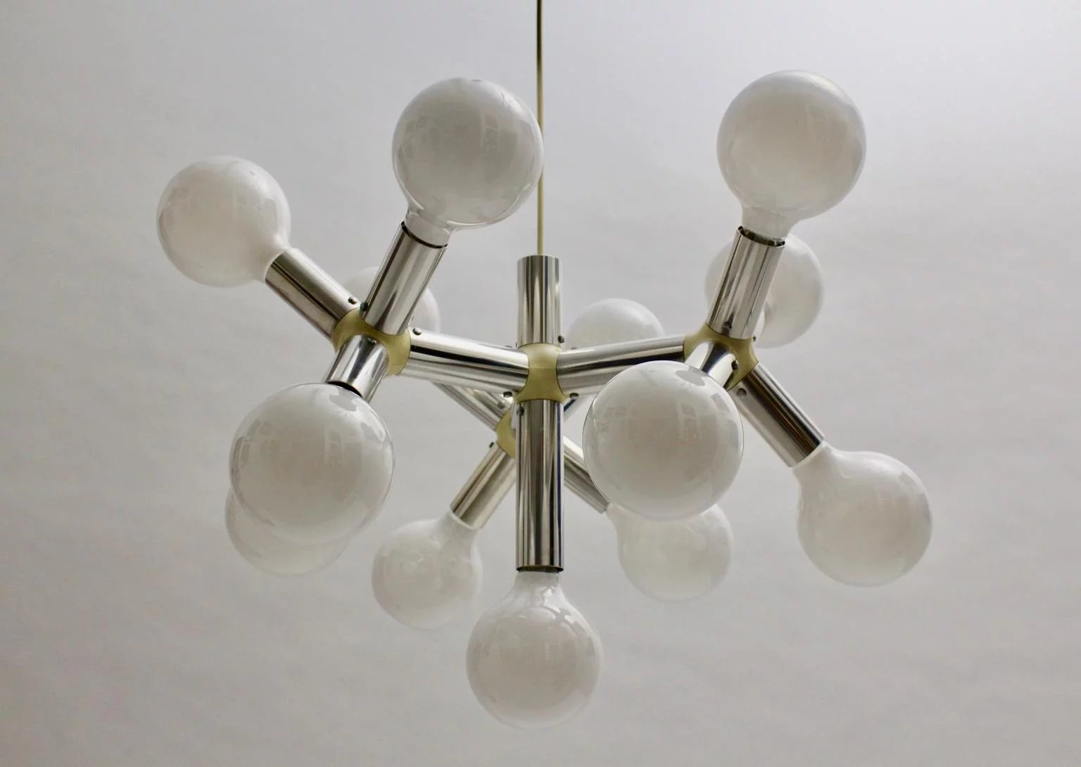 Atomic chandelier by robert haussmann 1960s switzerland nobarock atomic chandelier by robert haussmann 1960s switzerland click to expand arubaitofo Image collections
