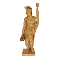 Wooden Folk Art Hand Carved Saint Florian 18th Century Austria