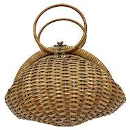 Basket Ladies Bag 1950s Italy