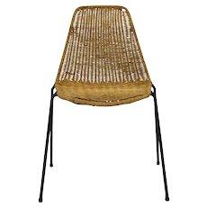Rattan Basket Chair by Gian Franco Legler 1951 Switzerland