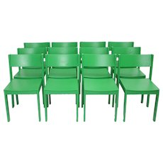 Green Mid Century Modern Carl Auböck Dining Room Chairs 1956 Vienna Set of 12