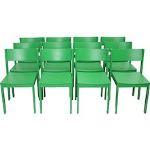 Green Mid Century Modern Carl Auböck Dining Room Chairs 1956 Vienna