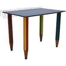 Multicolored Pop Art Desk by Pierre Sala 1983