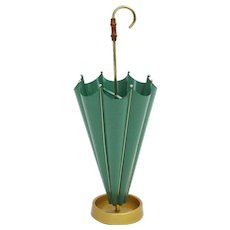 Green Umbrella Stand 1950s Italy