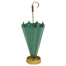 Green Umbrella Stand 1950s Italy