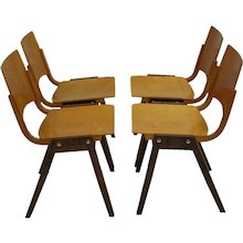 Stacking Chairs P7 by Roland Rainer 1952 Vienna