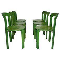 Set of six Dining Room Chairs by Bruno Rey