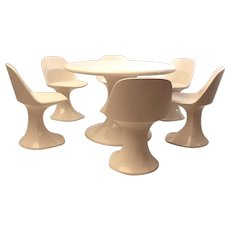 Space Age Dining Set 1970´s Table with 6 chairs