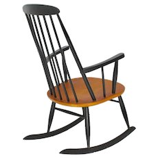 Black Rocking Chair by Ilmari Tapiovaara