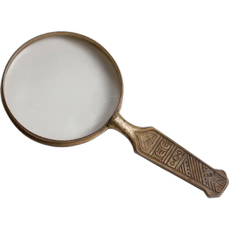 Tiffany Studios 'American Indian' Pattern Magnifying Glass