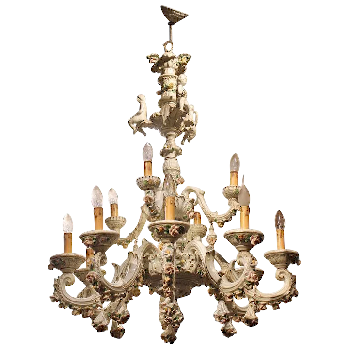 Capodimonte Porcelain 12 Lights Chandelier Chiara Esposito Antiquario Rubylux,Data Entry Jobs Online From Home Without Investment