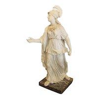 Italian Capodimonte Biscuit Figurine feat. Goddess Athena