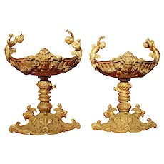 Pair of Gilt Bronze Tazzas