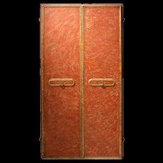Pair of Italian Lacquered Wood Doors
