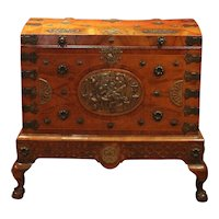 A Chippendale Travel Chest
