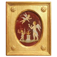 19th Century Italian Painting on Glass