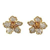 Gold & Platinum Earrings - Oscar Heyman