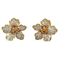 Gold & Platinum Earrings - Oscar Heyman