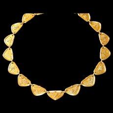 Tiffany Multi-Colored Gold & Platinum Necklace