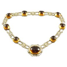 American Gold & Citrine Necklace
