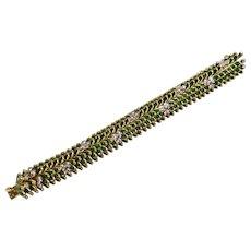 French Gold & Enamel Bracelet