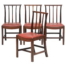 Set Four English George III Mahogany Side Chairs 1800