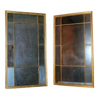 Pair Adam Gilt Wood Pier Mirrors with Divided Panels 19th century