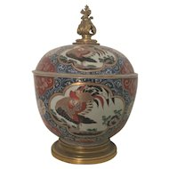 Large Japanese Imari Porcelain Tureen Mounted in Louis XVI Gilt Bronze 17th century