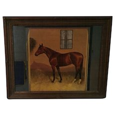 George Ford Morris Oil Portrait of Rosemont Thoroughbred Stallion 1938