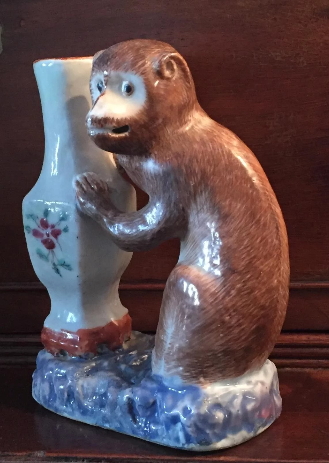 Chinese Porcelain Monkey Grasping A Famille Rose Vase Qianlong Period South Street Antiques