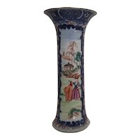 Chinese Export Porcelain Famille Rose Vase with European Subject 18th century