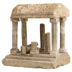 Grand Tour Limestone Architectural Model of a Greek Temple 19th century