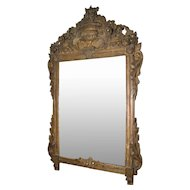 18th Century French Painted and Gilt Pier mirror.