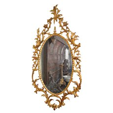 Pair of rococo pier mirrors. English circa 1765