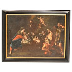 Old Masters Oil of the Adoration of the Shepherds