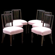 Set of Six George III Side Chairs, Ca. 1785