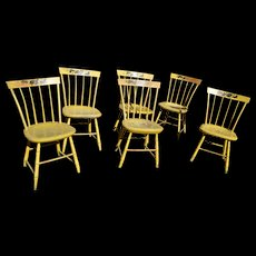 American Painted Windsor Chairs, Set of 6