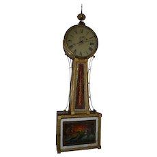 American banjo clock, ca. 1810-30