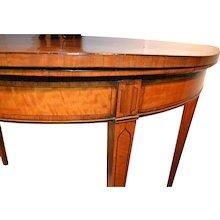 George III Hepplewhite games table, ca. 1785