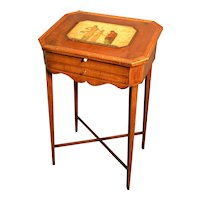 English  small slant lid writing desk, late 18th  century